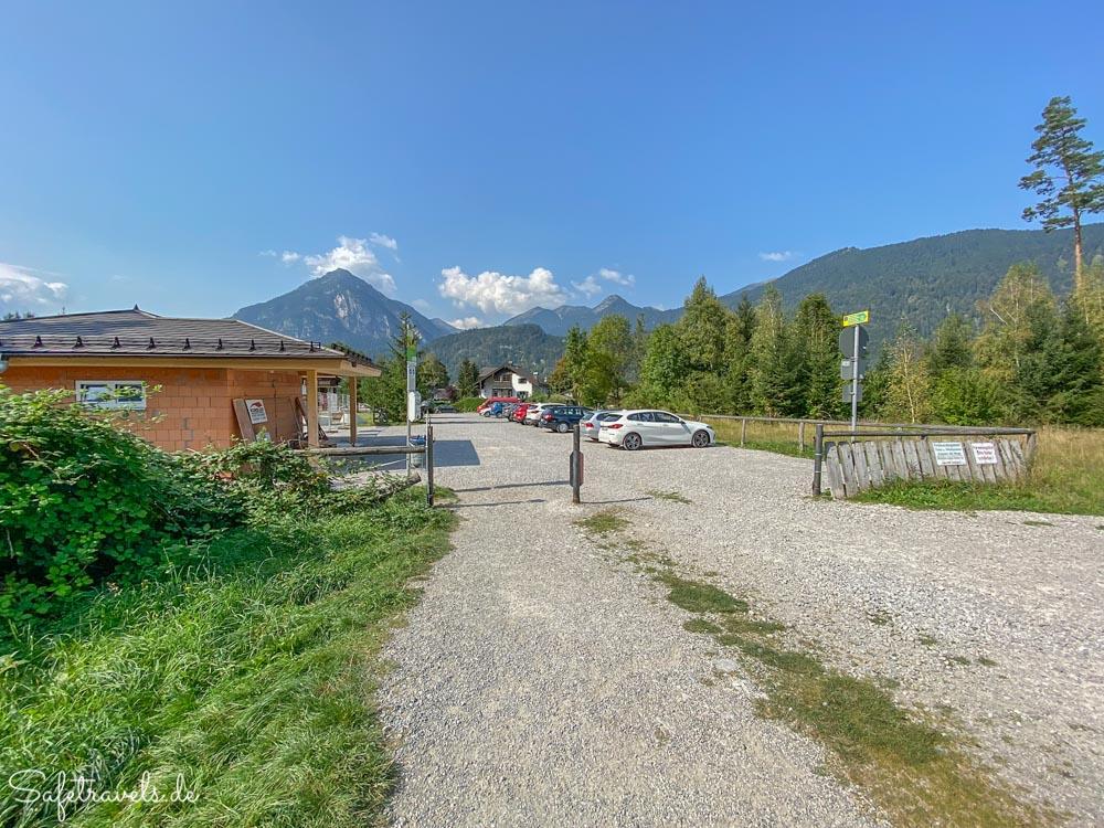 Parkplatz an den Kuhfluchtwasserfällen