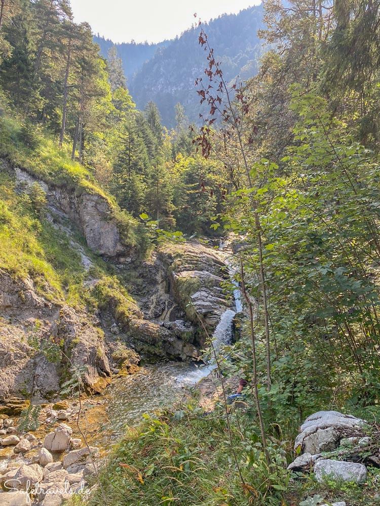 Untere Kaskade der Kuhfluchtwasserfälle