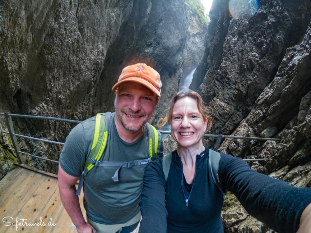 Am Wasserfall in der Leutascher Geisterklamm