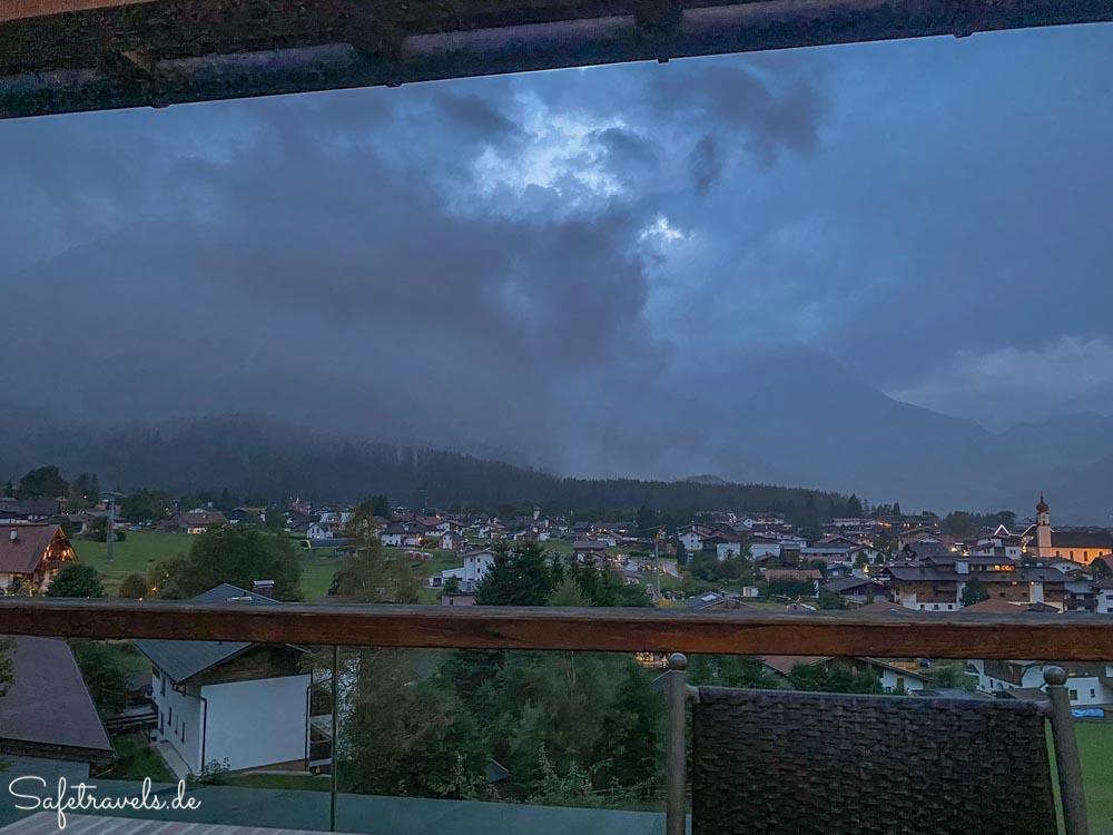 Blick vom Balkon - Villa Buchenhain