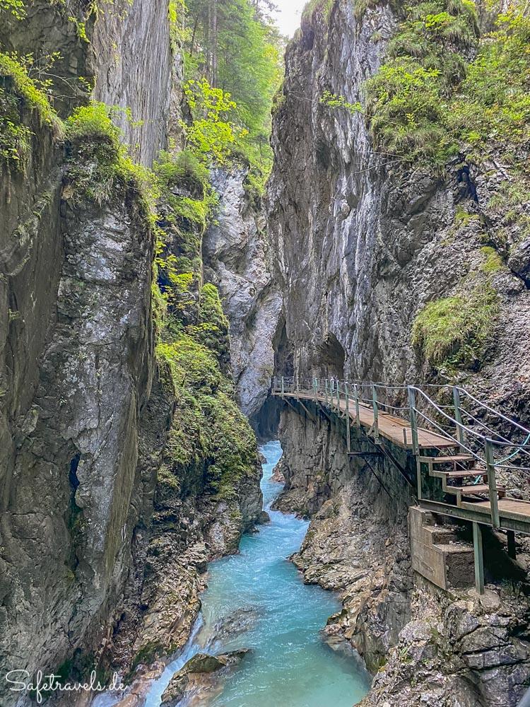 Wasserfallsteig in der Leutascher Geisterklamm