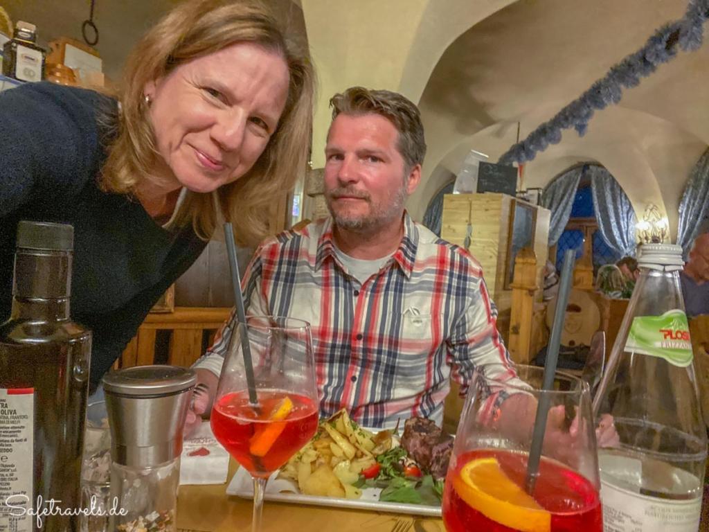 Abschiedsessen im Schlosskeller - Toblach