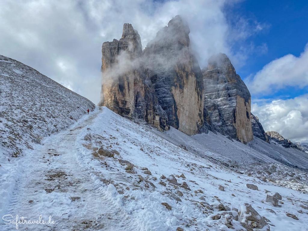 Abstieg vom Forcella Lavaredo - Umrundung Drei Zinnen
