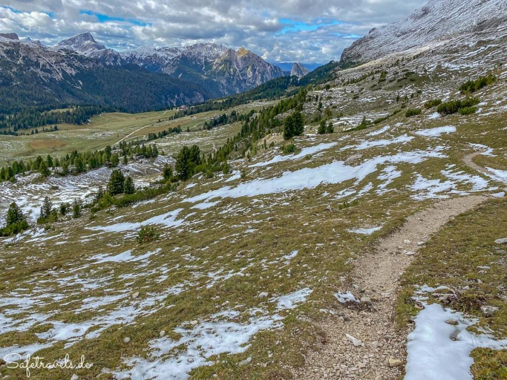 Abstieg vom Strudelkopf zur Plätzwiese - Wanderung Dolomiten