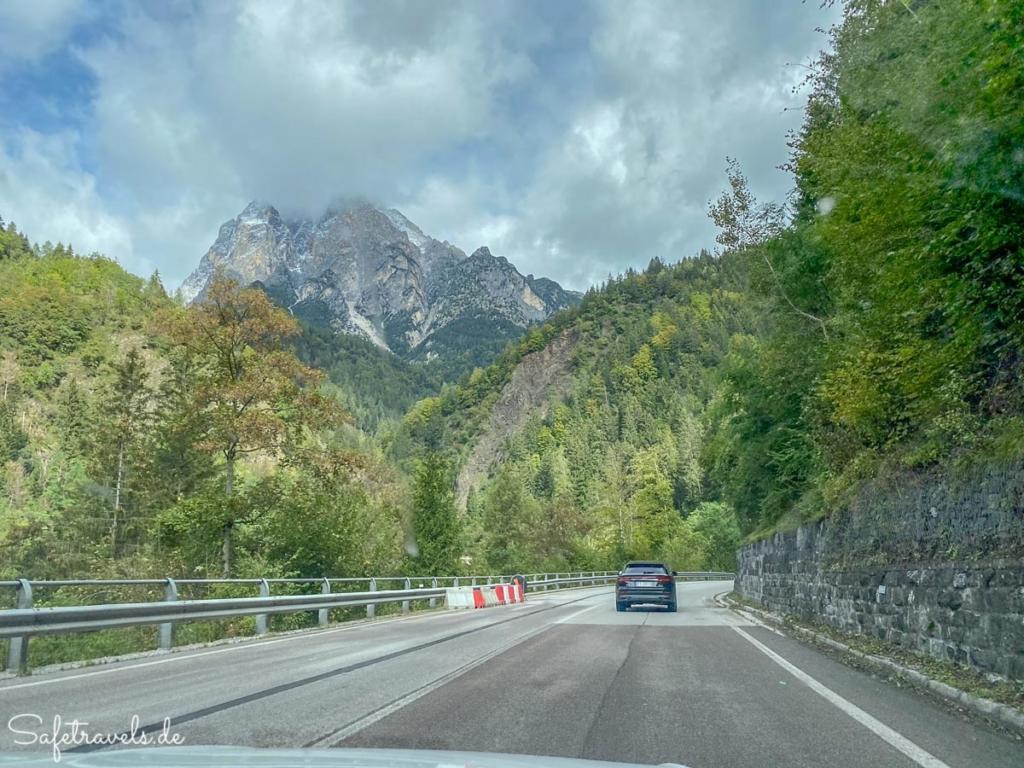 Anfahrt in die Dolomiten