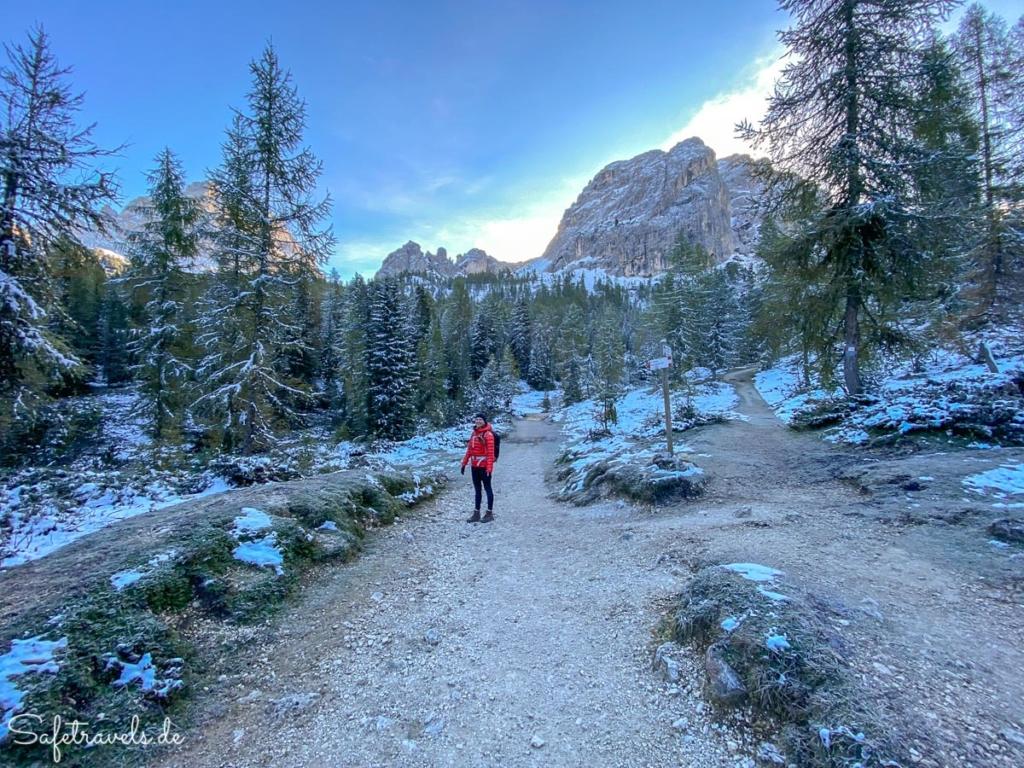 Aufstieg zur Auronzohütte am frühen Morgen - Dolomiten