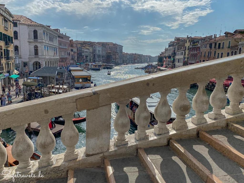 Blick von der Rialtobrücke in Venedig
