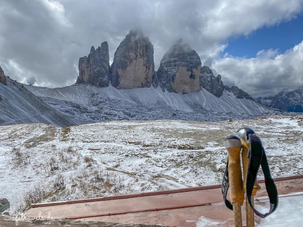 Blick von der Terrasse der Dreizinnenhütte - Dolomiten