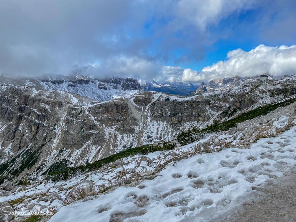 Blick zur Auronzohütte - Dolomiten