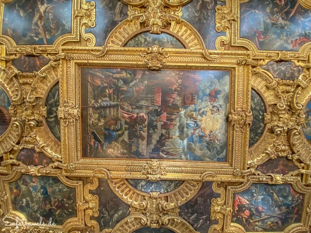 Deckengemälde im Dogenpalast Venedig
