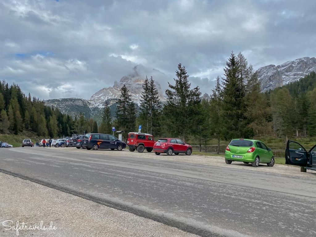 Parkplatz am Lago d'Antorno