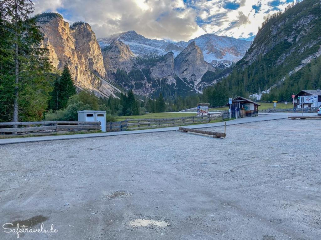 Parkplatz in Ponticello - Dolomiten