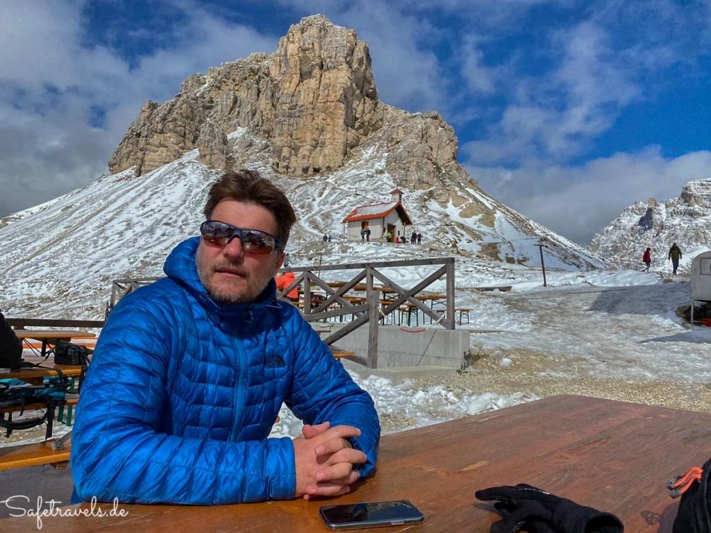 Pause an der Dreizinnenhütte - Dolomiten