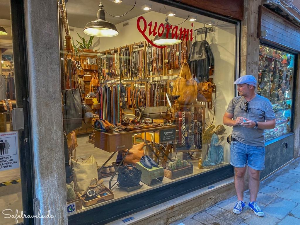 Quorami Ledergeschäft in Venedig