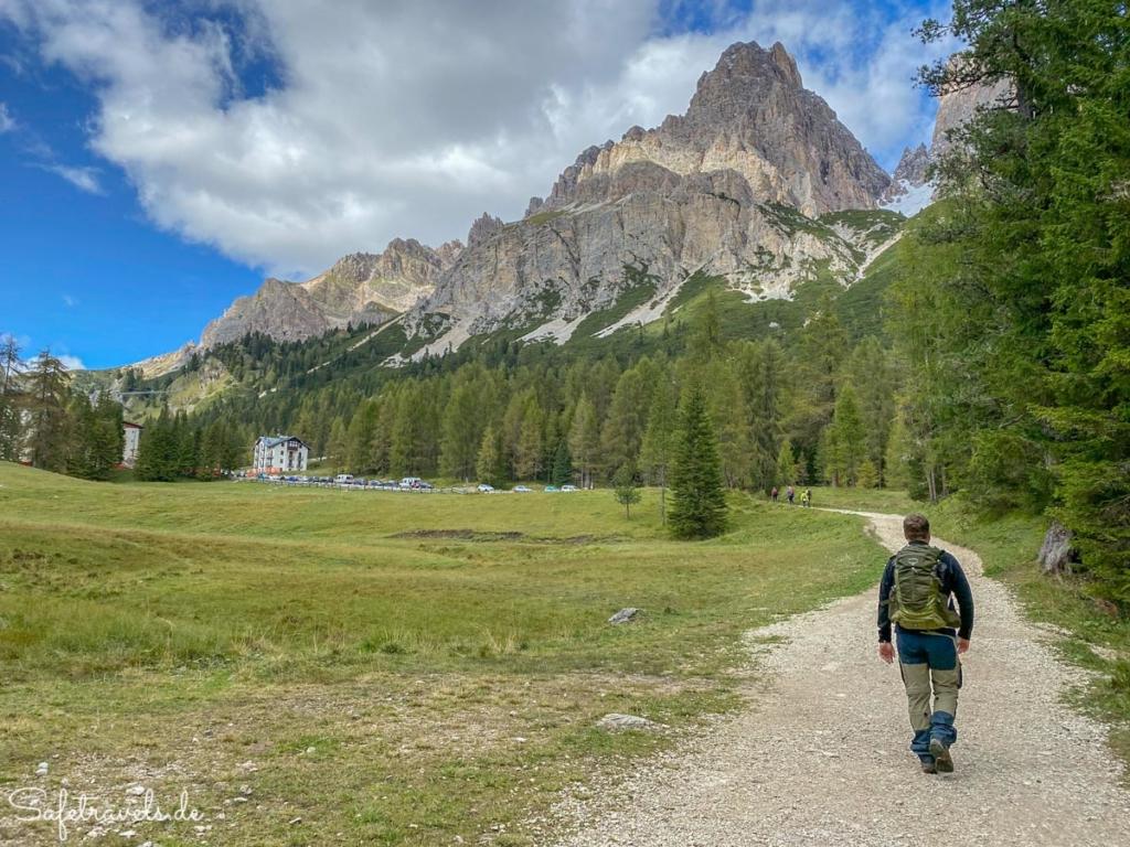 Rückweg zum Passo Tre Croci - Wanderweg Sorapis See