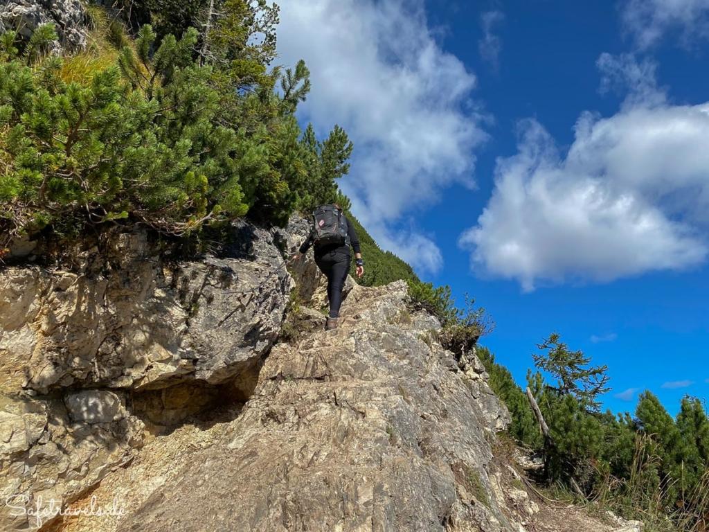 Seilversicherte Passage 1 - Wanderung Sorapis See