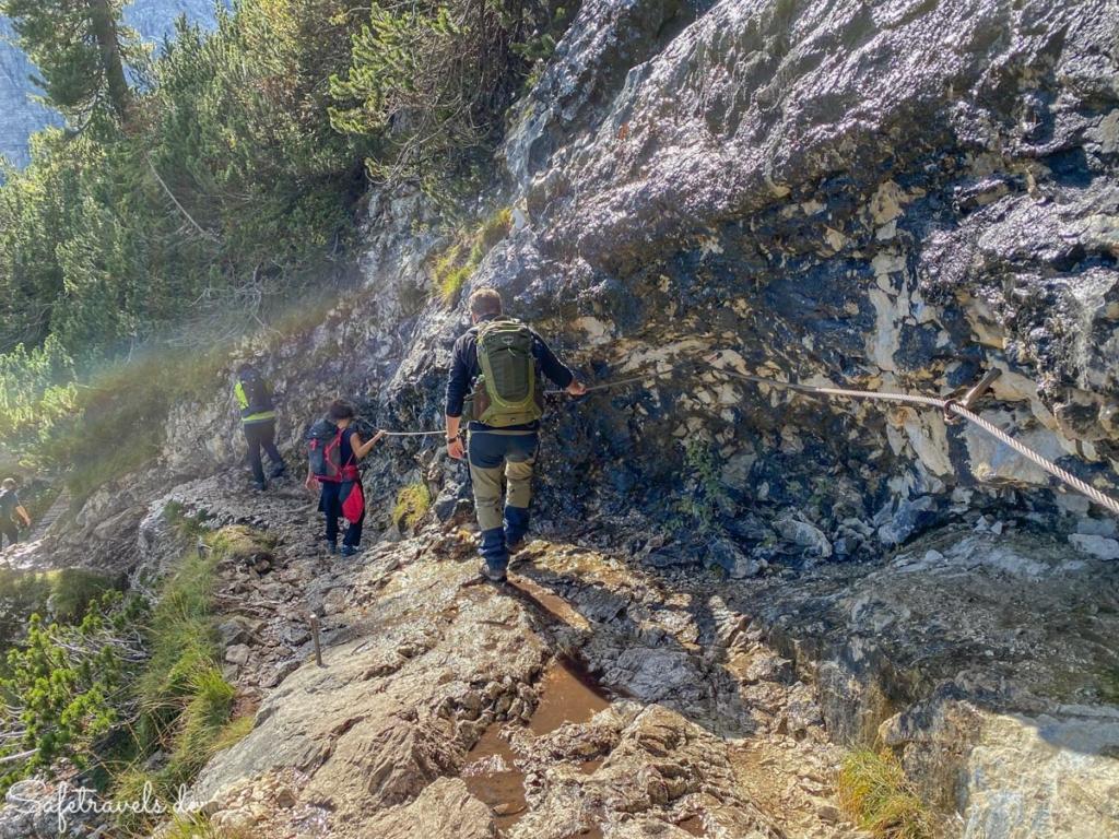 Seilversicherte Passage 3 - Wanderung Sorapis See