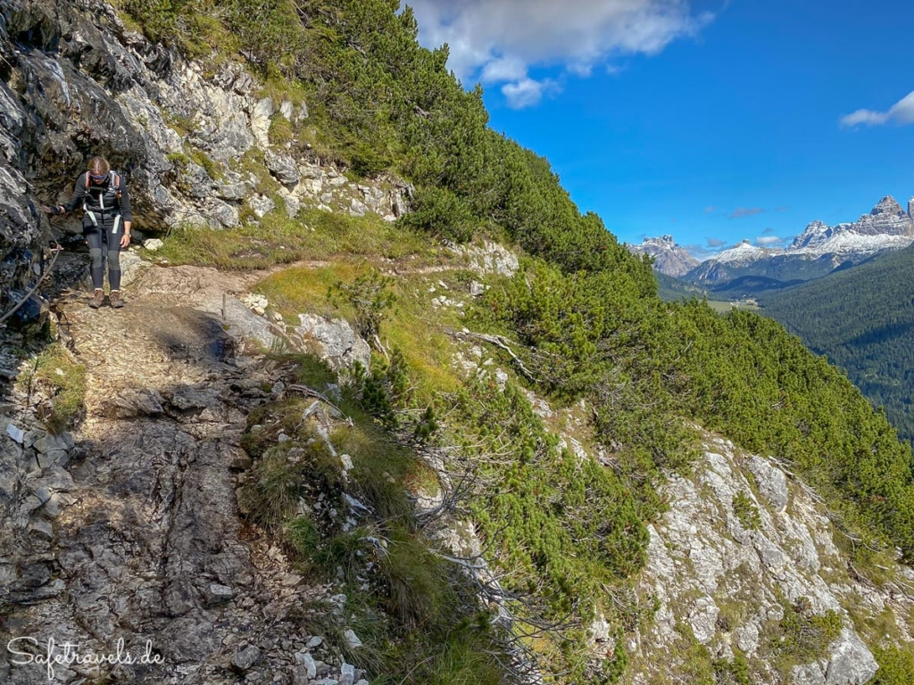 Seilversicherte Passage 3 - Wanderweg Sorapis See