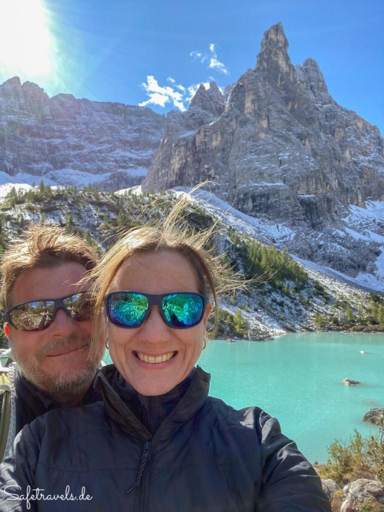 Selfie am Sorapis See - Dolomiten