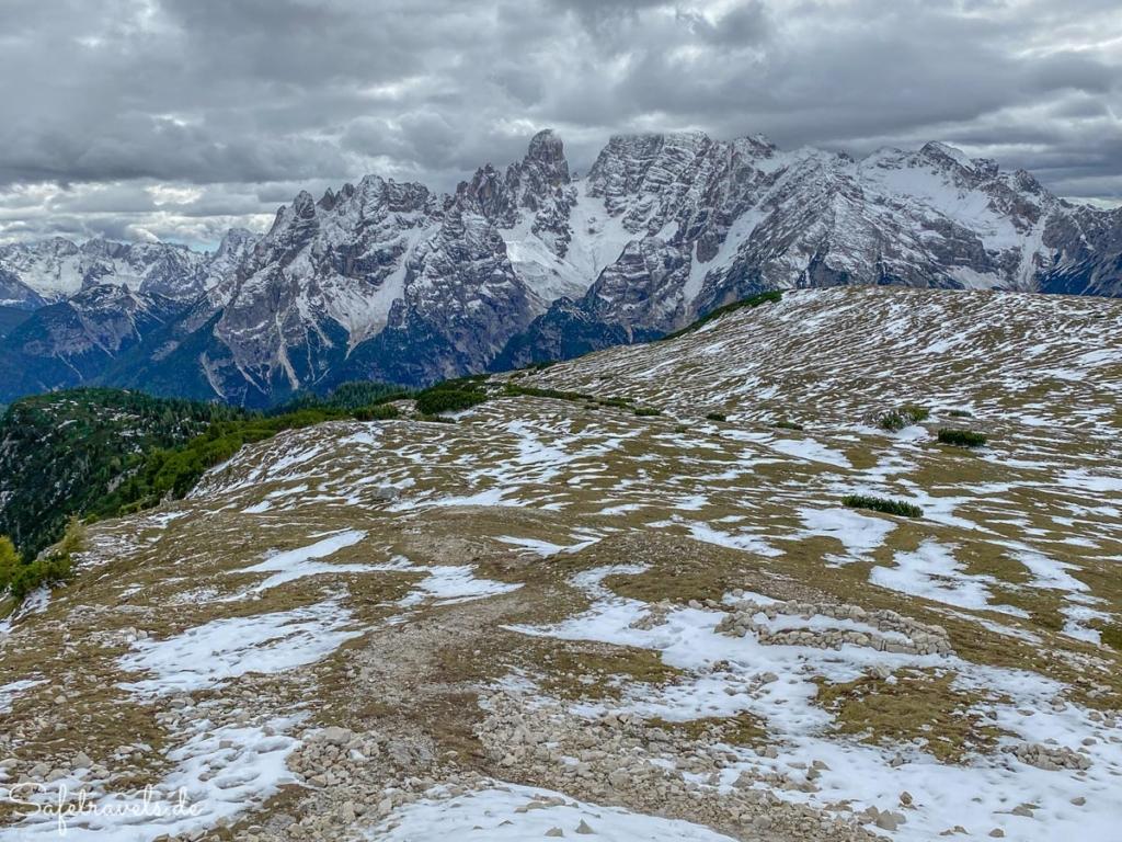 Strudelkopf - Ausblick auf Monte Cristallo