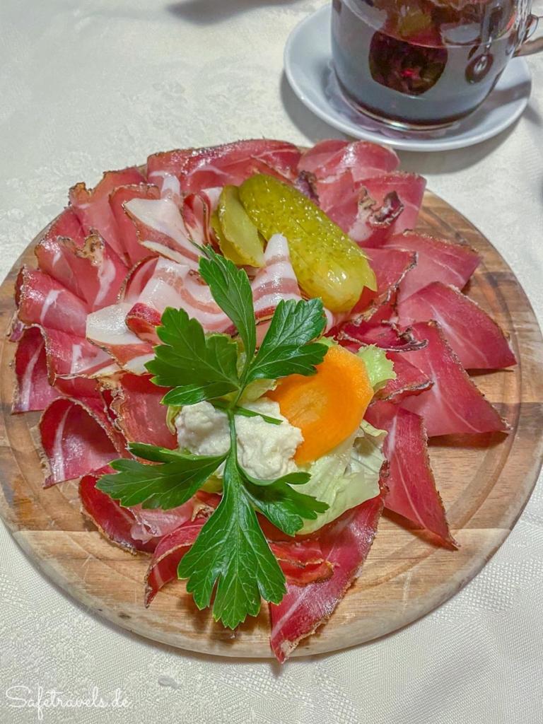 Tiroler Speck im Gasthaus Weber - Toblach