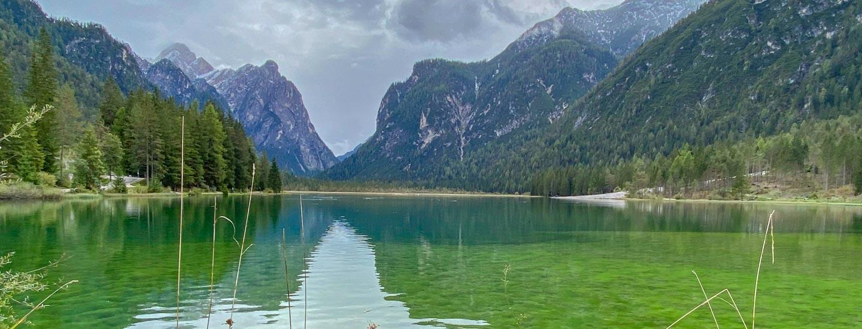 Toblacher See Rundweg Wanderung Blog Titel