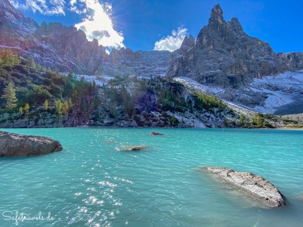 Türkisblaues Juwel - Sorapis See in den Dolomiten
