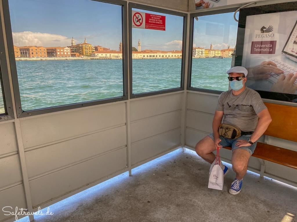 Vaporetto Haltestelle in Venedig