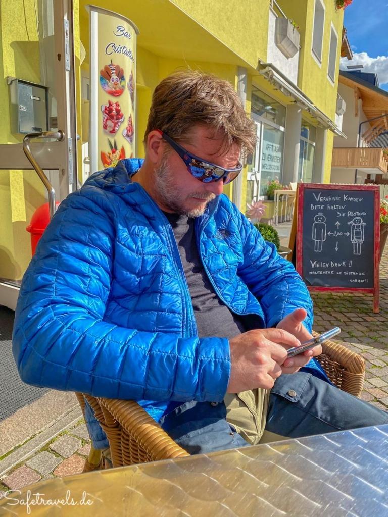 Verdiente Pause - Eisdiele in Toblach