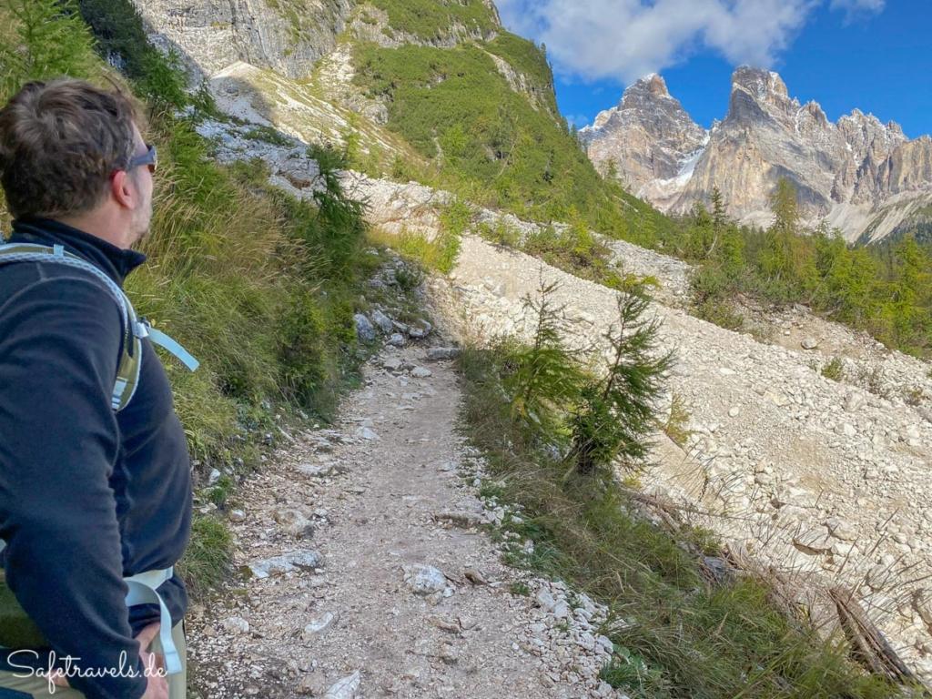 Wanderung zum Sorapis See - Dolomiten